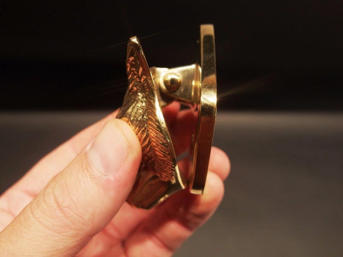 Small Solid Brass Fox Door Knocker Hardware - 3