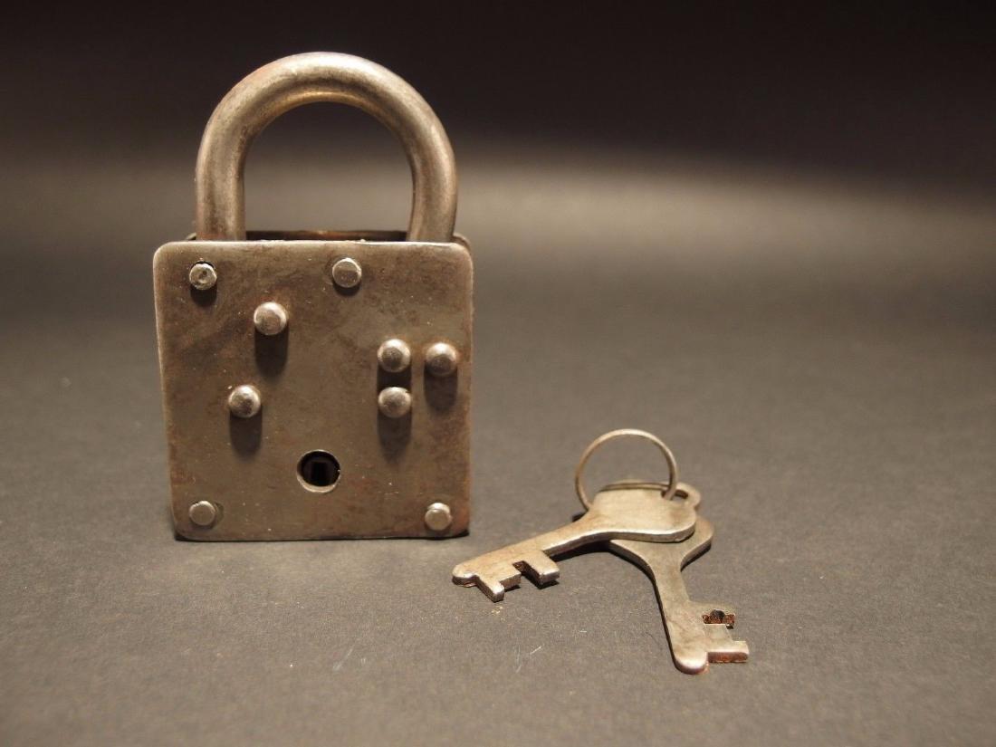 Wrought Iron Square Trunk Chest Box Lock Key Padlock - 5