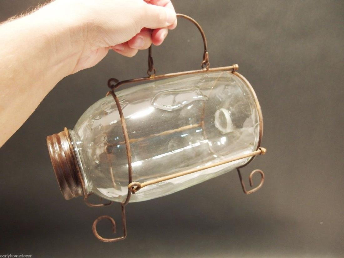 SmallClear Glass Minnow Bottle Trap Signed