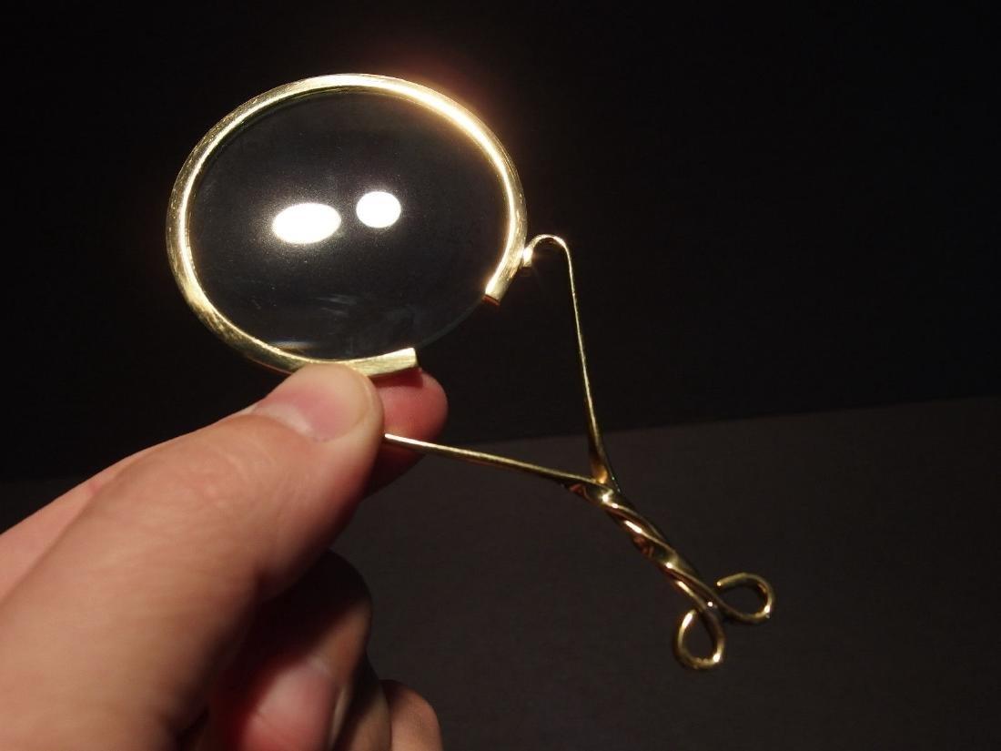 "Brass Magnifying glass Hand Lens ""Fur Trade"" Longhunter - 2"