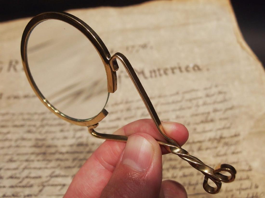 "Brass Magnifying glass Hand Lens ""Fur Trade"" Longhunter - 7"