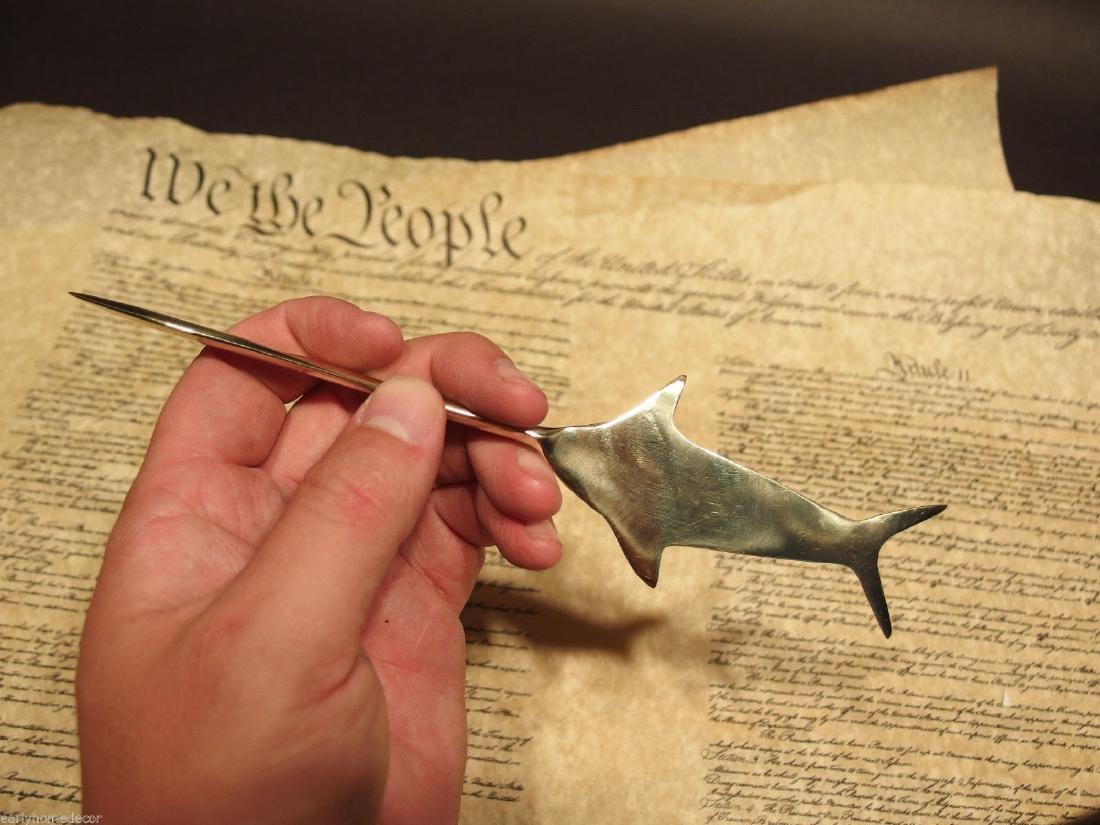 Brass Nautical Swordfish letter opener Fishing Fish - 2