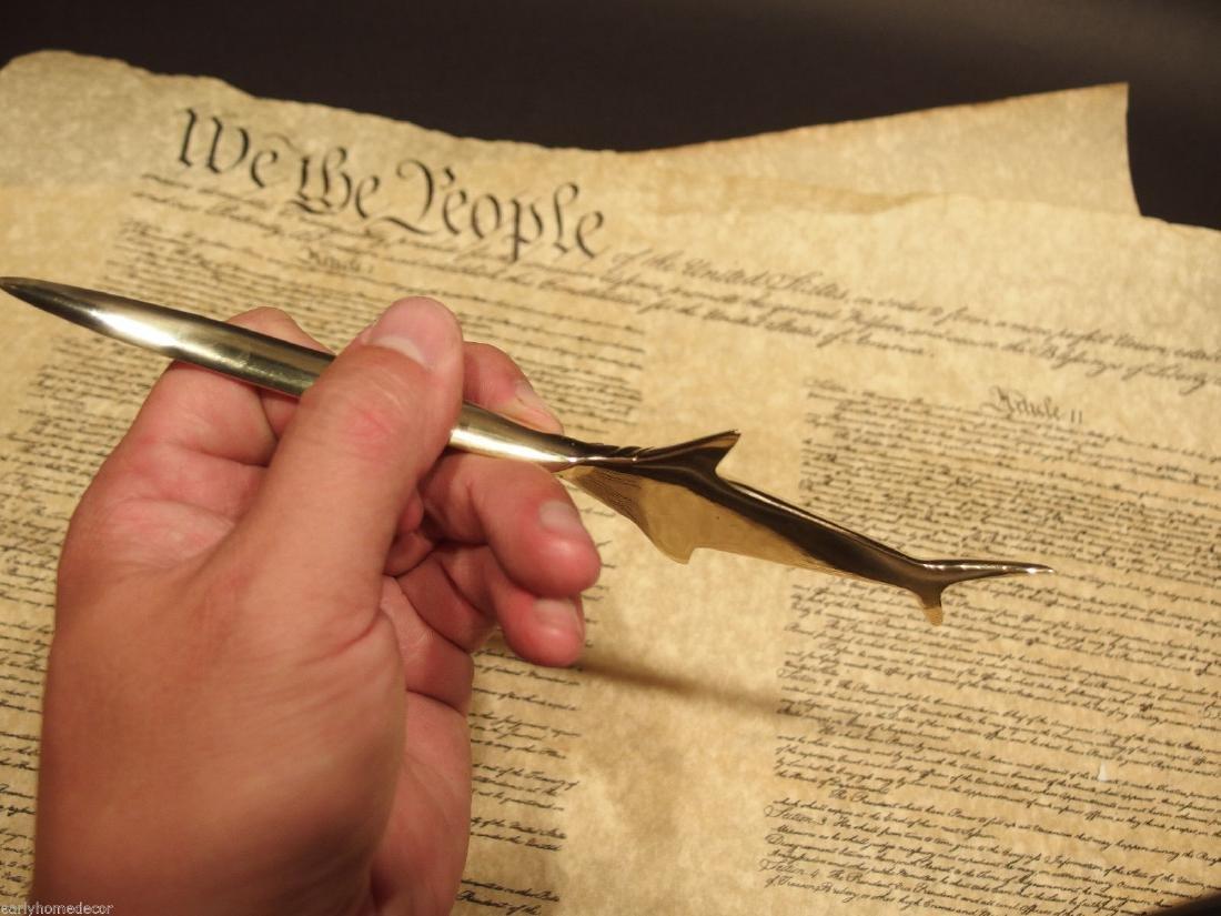 Brass Nautical Swordfish letter opener Fishing Fish - 6