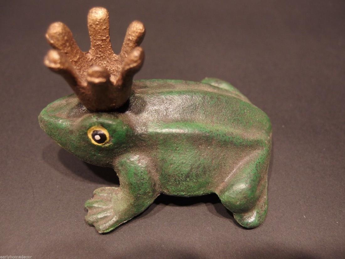 Cast Iron Folk Art Beer Soda Bottle Cap Frog Opener - 3