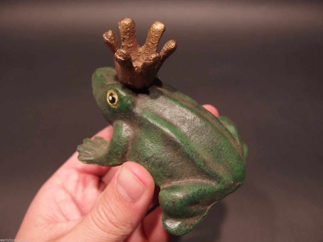 Cast Iron Folk Art Beer Soda Bottle Cap Frog Opener - 7