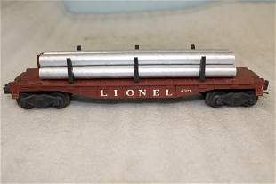 Lionel Postwar 6311 Flatcar with Pipe Load