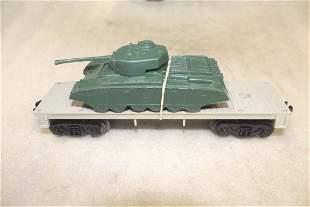 Lionel Postwar 640125 Flatcar Army Tank Payton Plastic