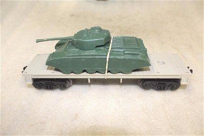 Lionel Postwar 6401-25 Flatcar Army Tank Payton Plastic