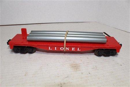 Lionel Postwar 6409-25 Flat Car 3 Original Pipes 1963