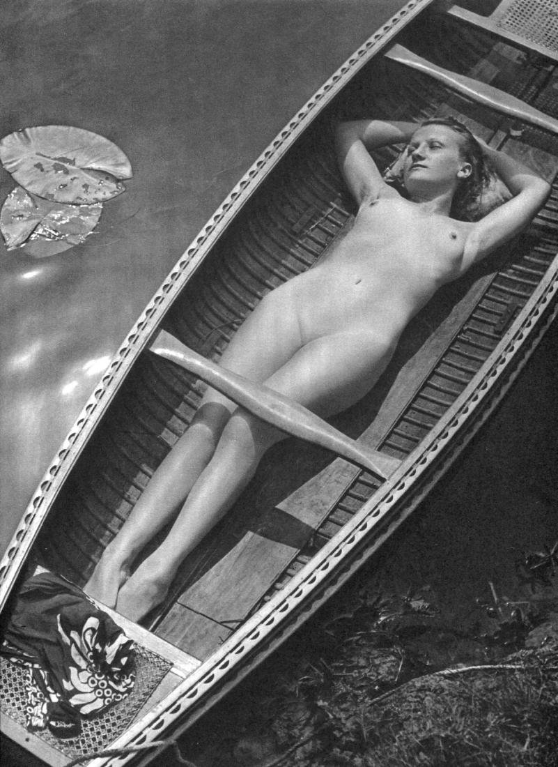 PIERRE BOUCHER - Nude in a Canoe