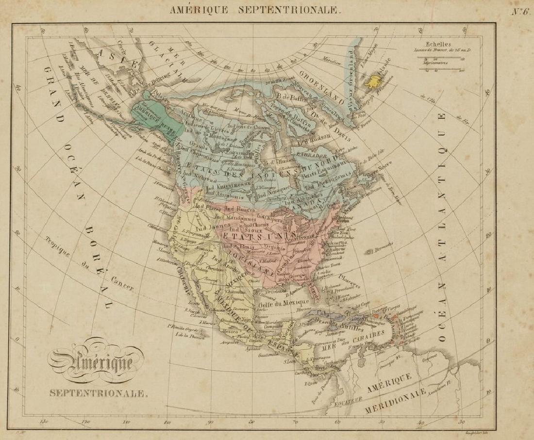 Antique Map of North America, 1850