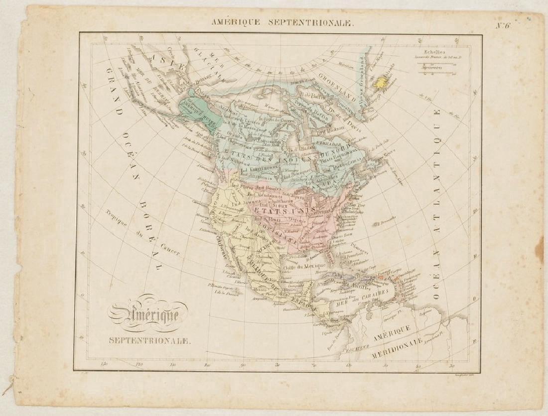 Antique Map of North America, 1850 - 2