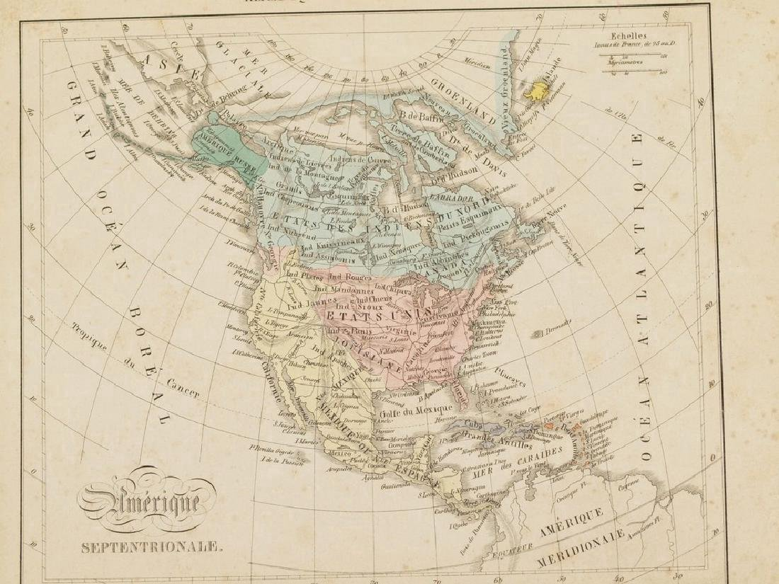 Antique Map of North America, 1850 - 3