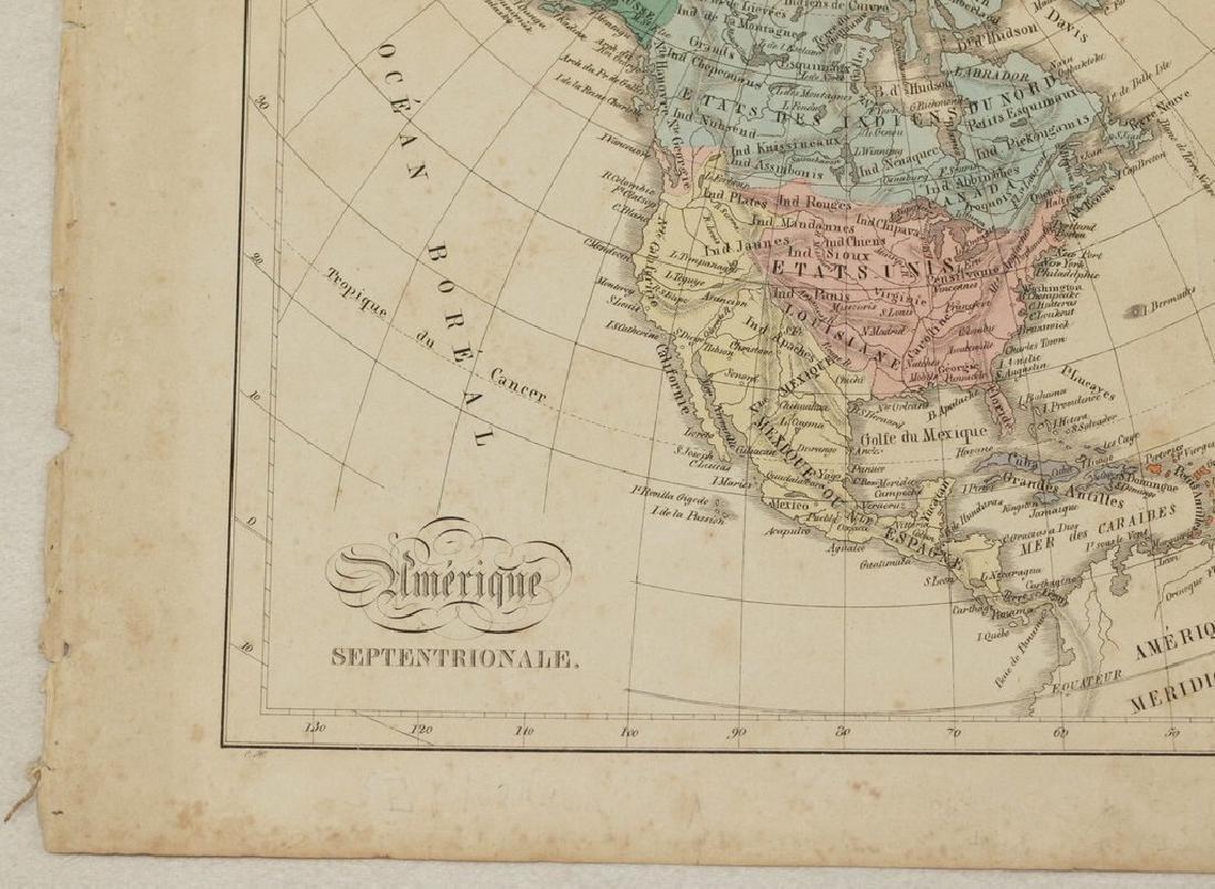 Antique Map of North America, 1850 - 4