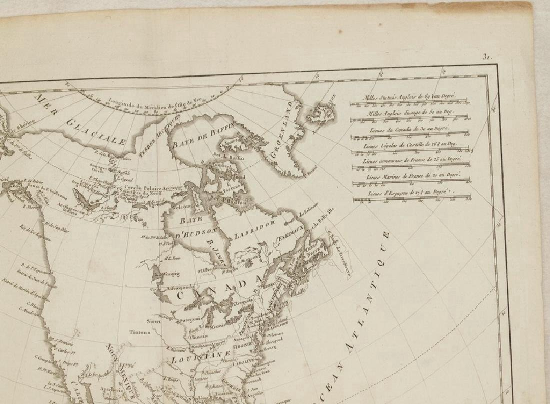 Bonne: Antique Map of North America, 1787 - 4