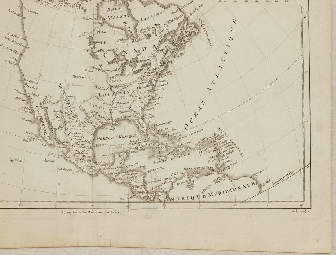 Bonne: Antique Map of North America, 1787 - 5