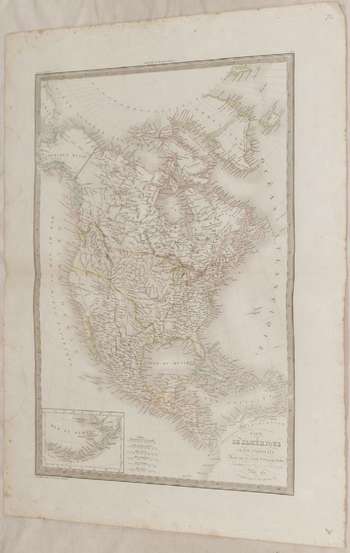 Lapie: Antique Map of North America, 1830 - 2