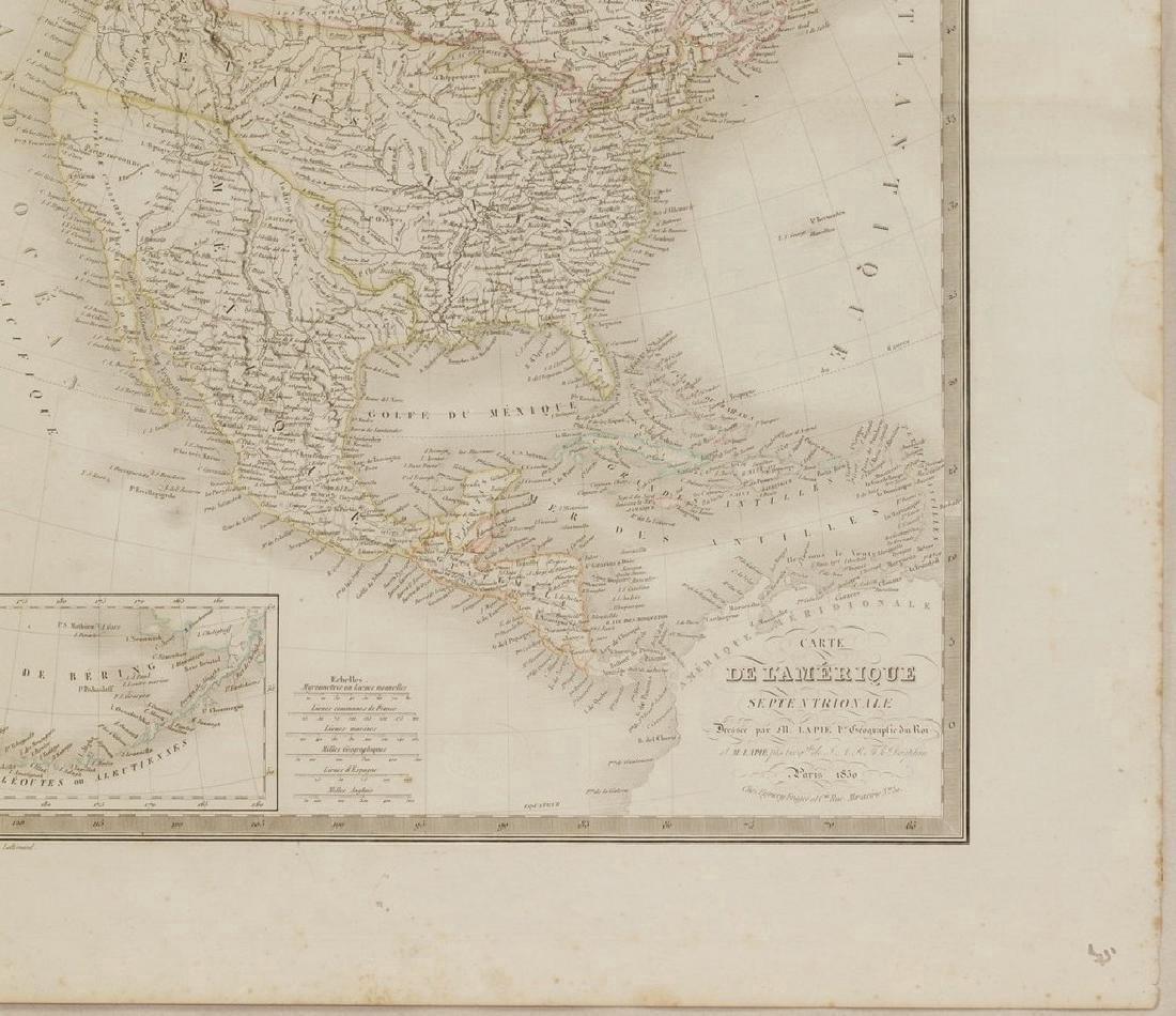 Lapie: Antique Map of North America, 1830 - 5