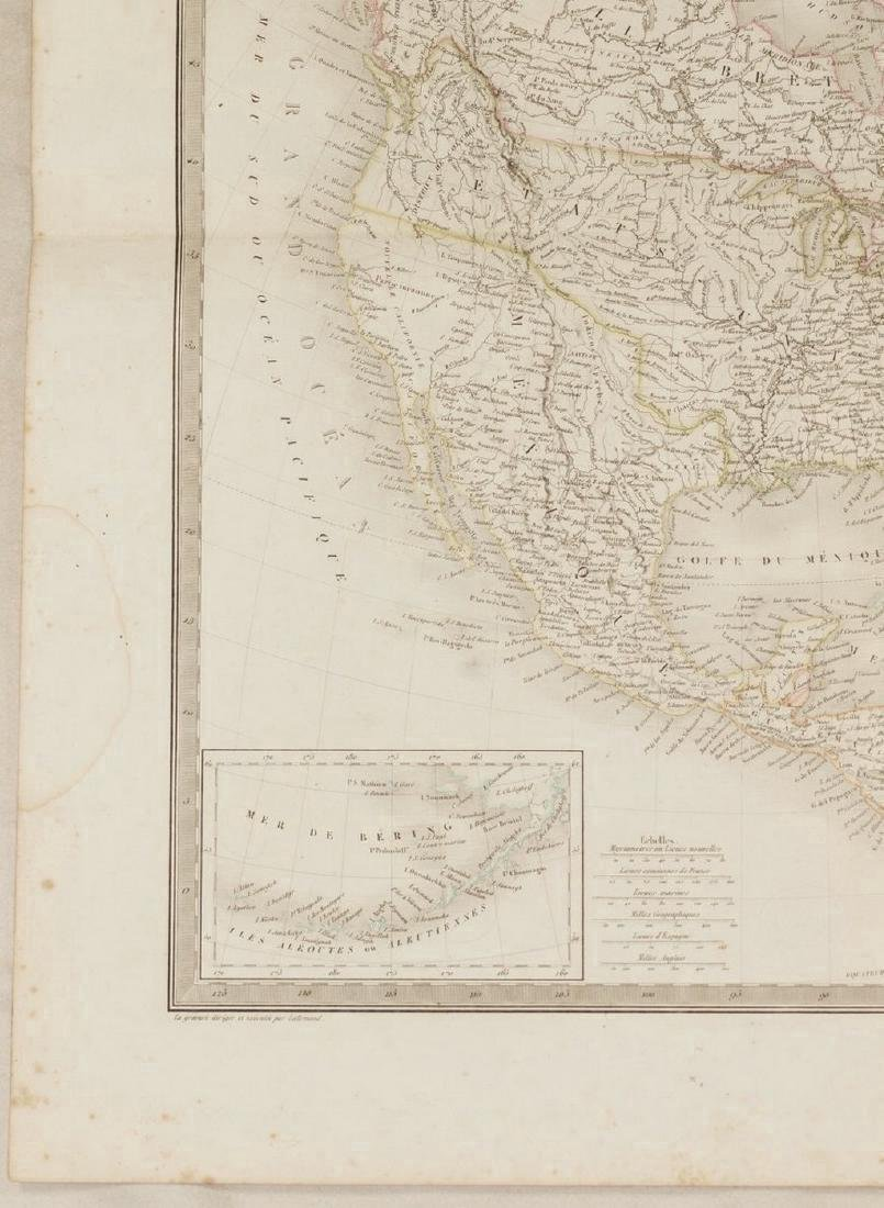 Lapie: Antique Map of North America, 1830 - 6