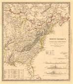 SDUK: Antique Map of North America, East, 1846