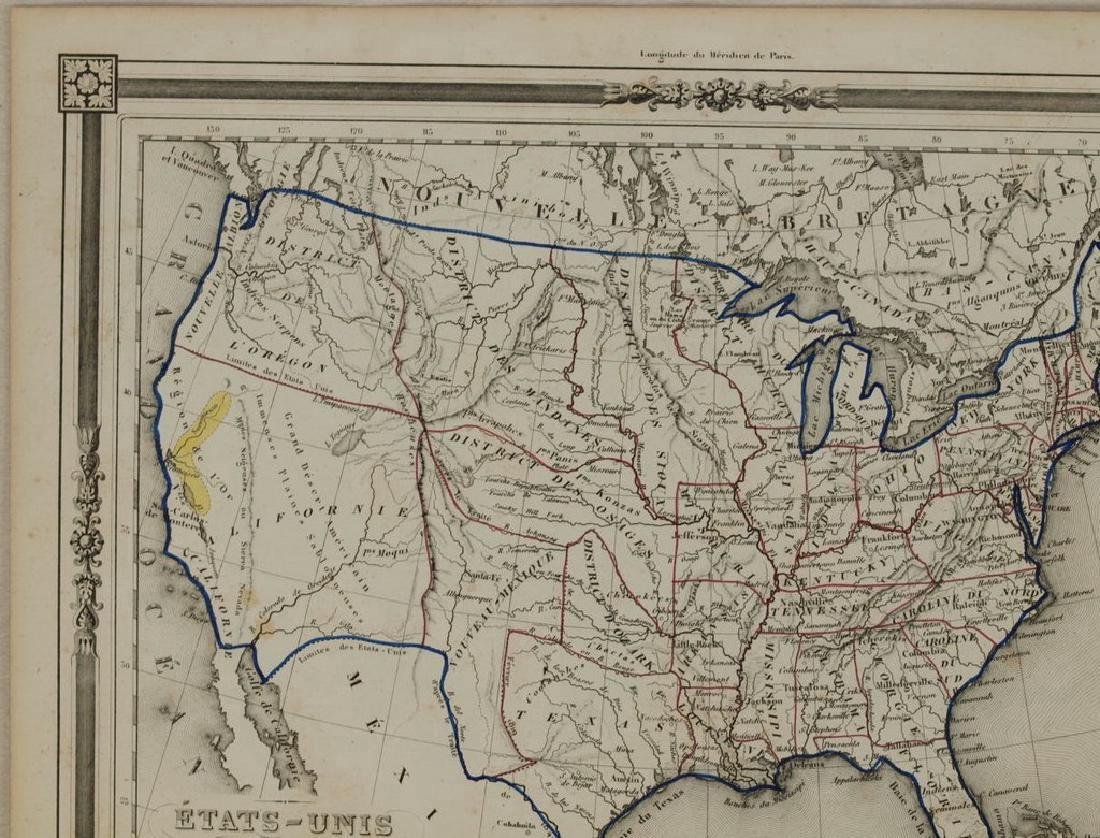 Duvotenay: Antique Map of the United States, 1852 - 2