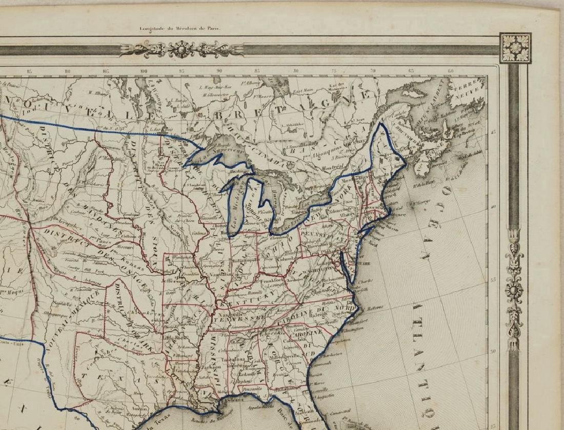 Duvotenay: Antique Map of the United States, 1852 - 3