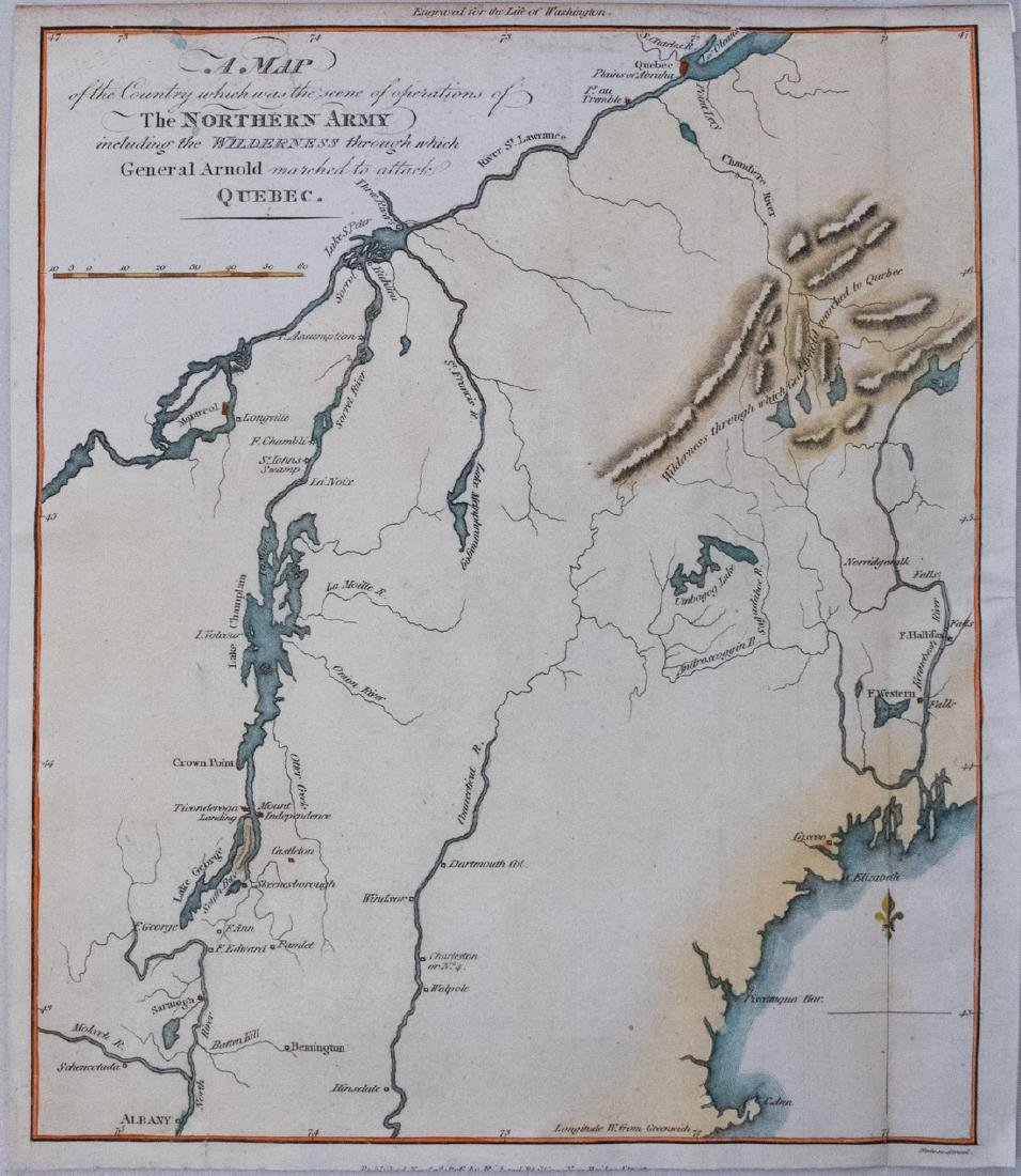 Phillips: Revolutionary War Map of New England, 1806