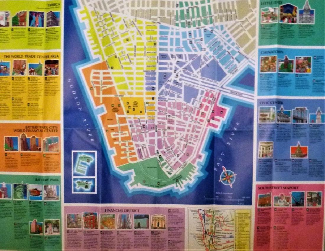 Map and Guide to Lower Manhattan - 3