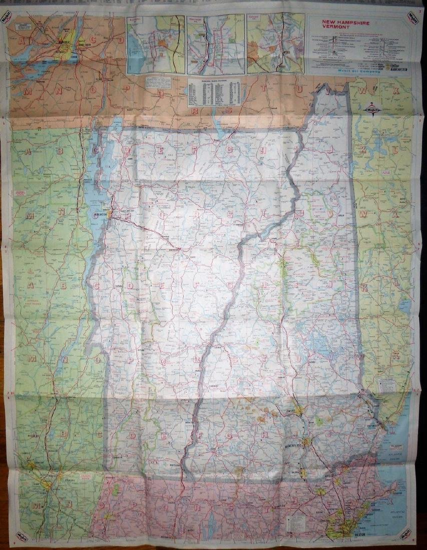 Rand McNally: Mobil - Northern New England Map, 1965 - 2
