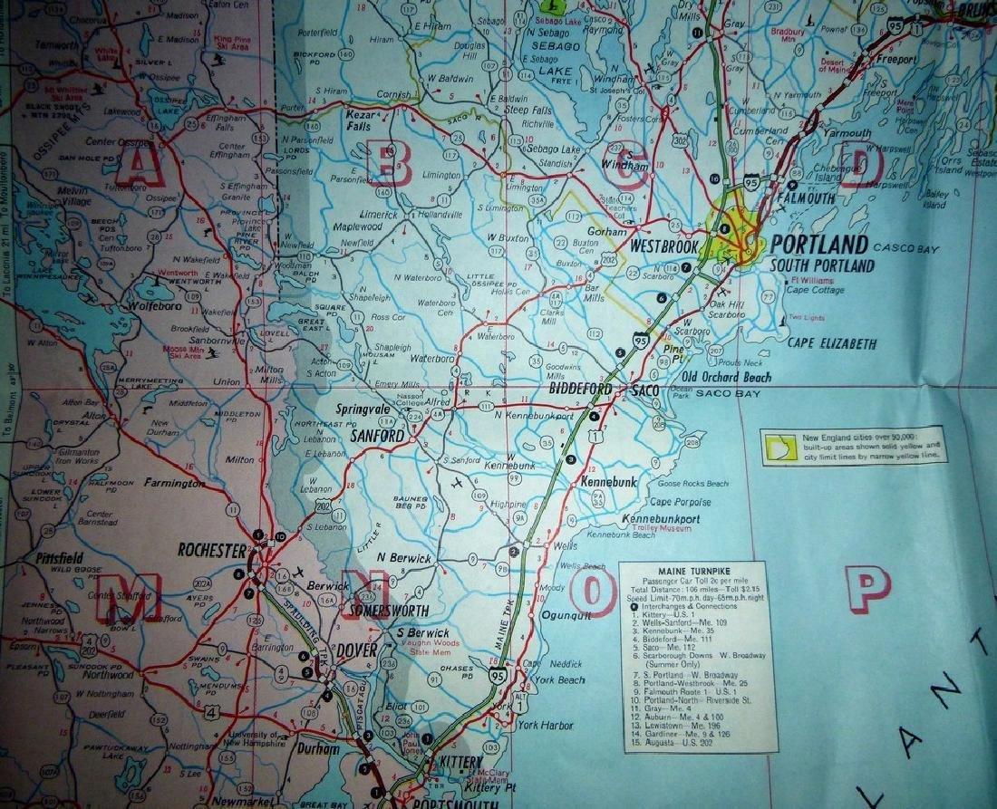 Rand McNally: Mobil - Northern New England Map, 1965 - 3