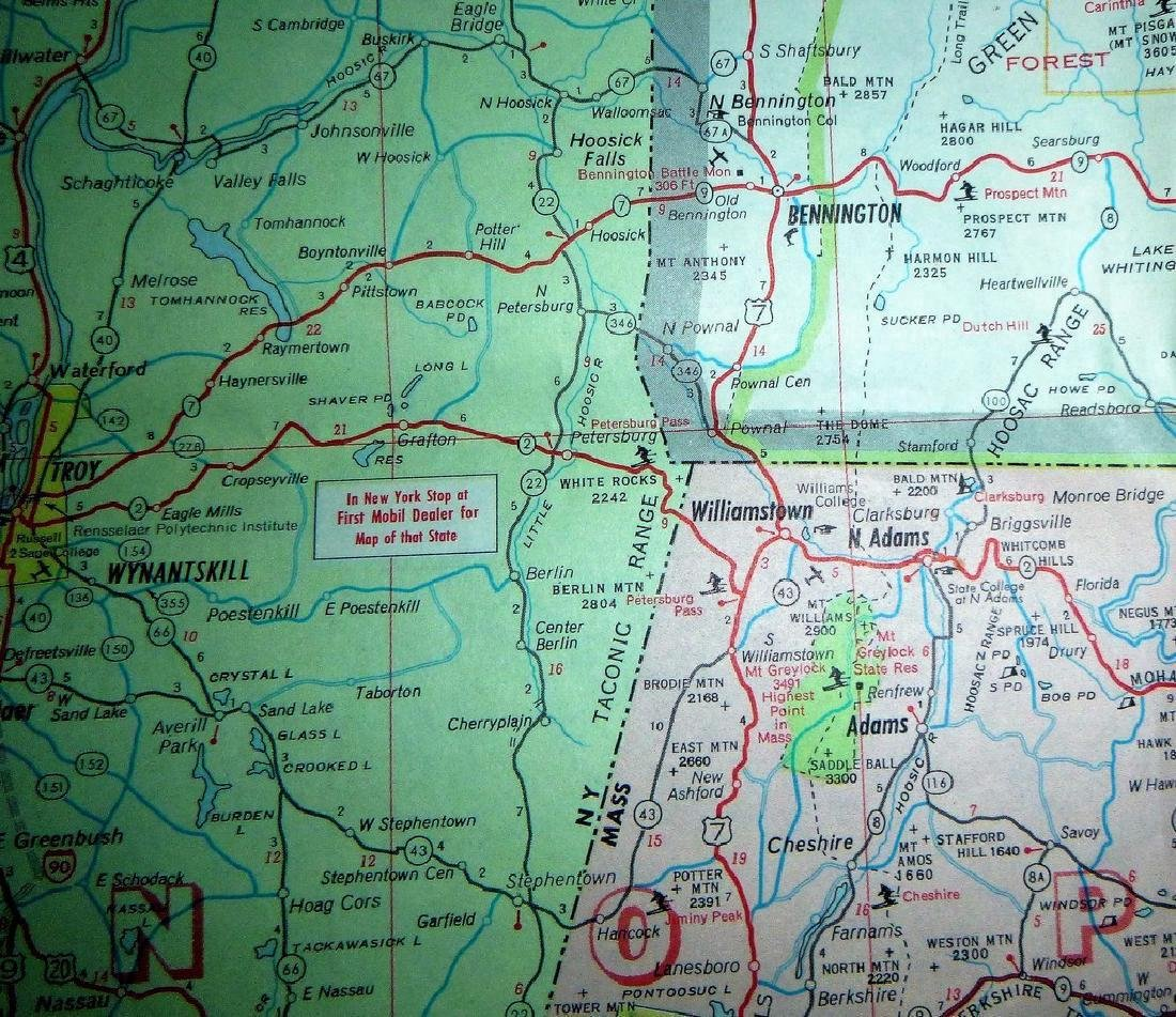 Rand McNally: Mobil - Northern New England Map, 1965 - 4