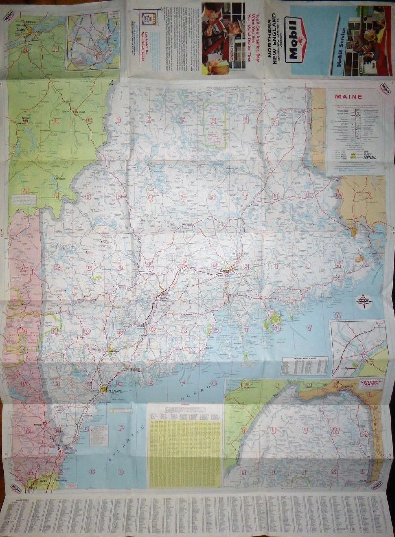 Rand McNally: Mobil - Northern New England Map, 1965 - 5