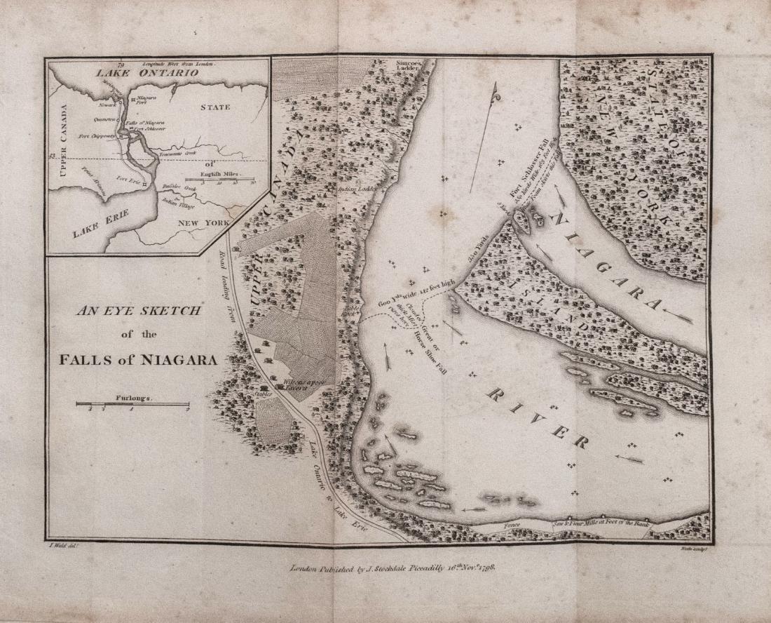 Stockdale: Antique Map of Niagara Falls, 1798