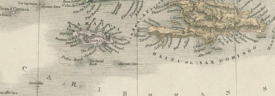 Sidney Hall: Antique Map of the West Indies, 1856 - 2