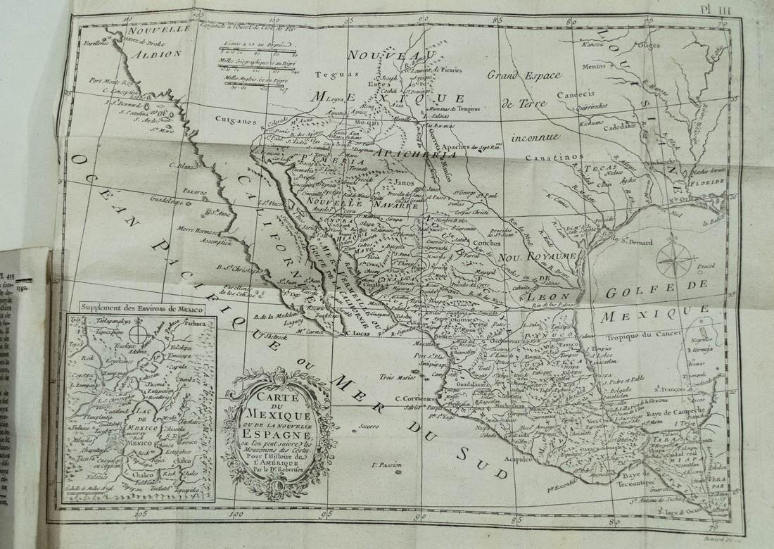Kitchin: Antique Map of Mexico and New Spain, 1780