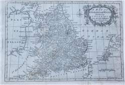 Brookes: Antique Map of England and Wales, 1795