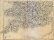 Sidney Hall: Antique Map of England & Wales, 1845