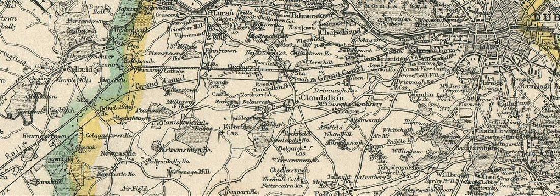 Weller: Antique Map of Dublin Environs, 1863 - 2