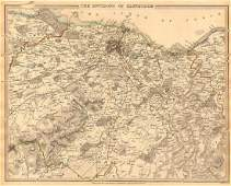 SDUK: Antique Map of Edinburgh & Environs, 1844