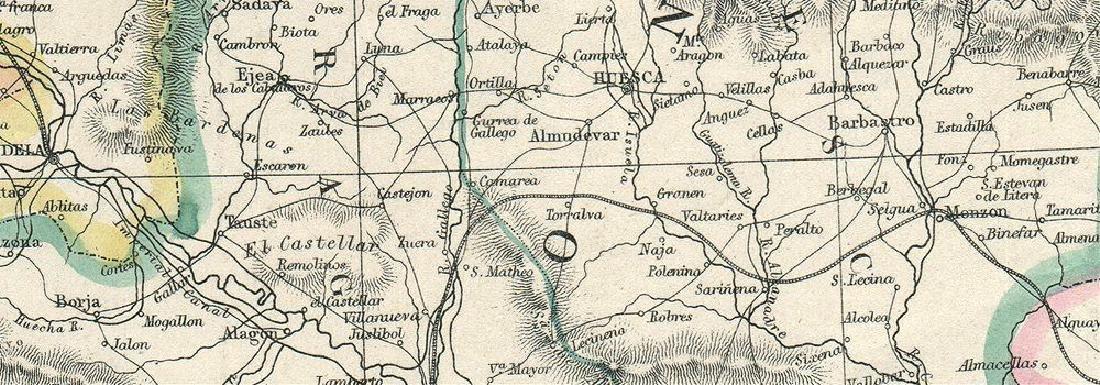 Weller: Antique Map of Northeast Spain, 1863 - 2