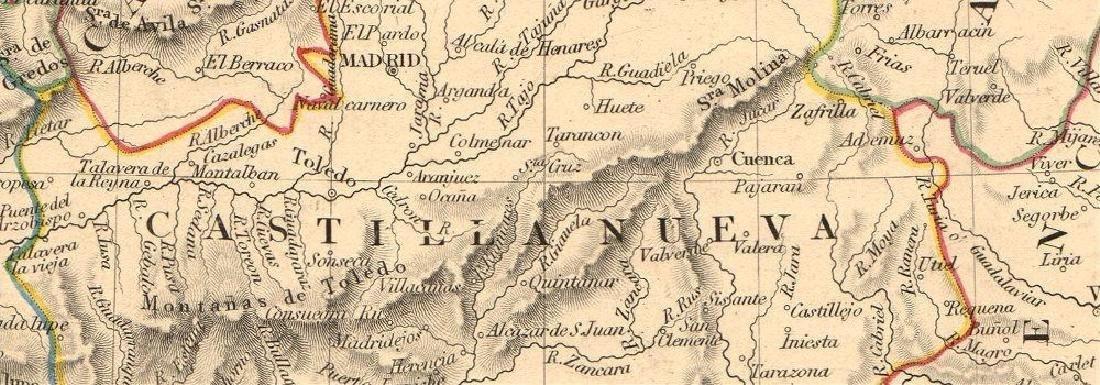 SDUK: Antique Map of Spain & Portugal, 1845 - 2