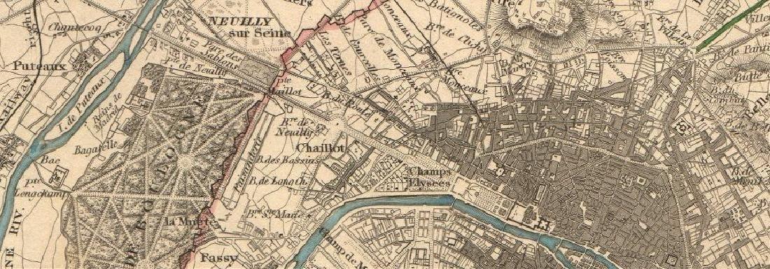 SDUK: Antique Map of Paris Environs, 1847 - 2