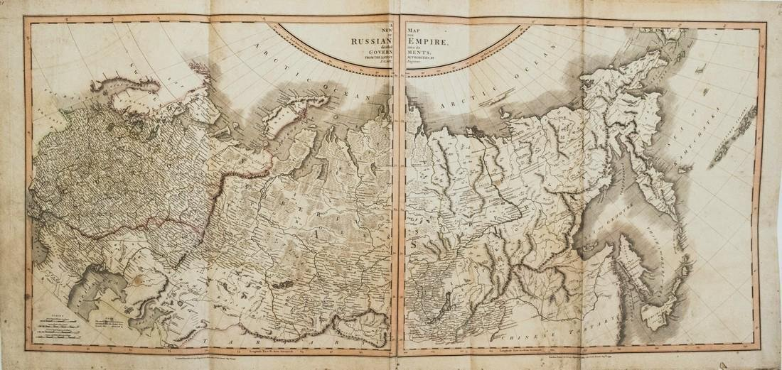 Cary: Antique Map of Russia Under the Czars, 1799