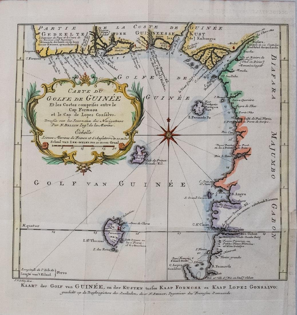 Bellin: Antique Map of West Africa, 1757