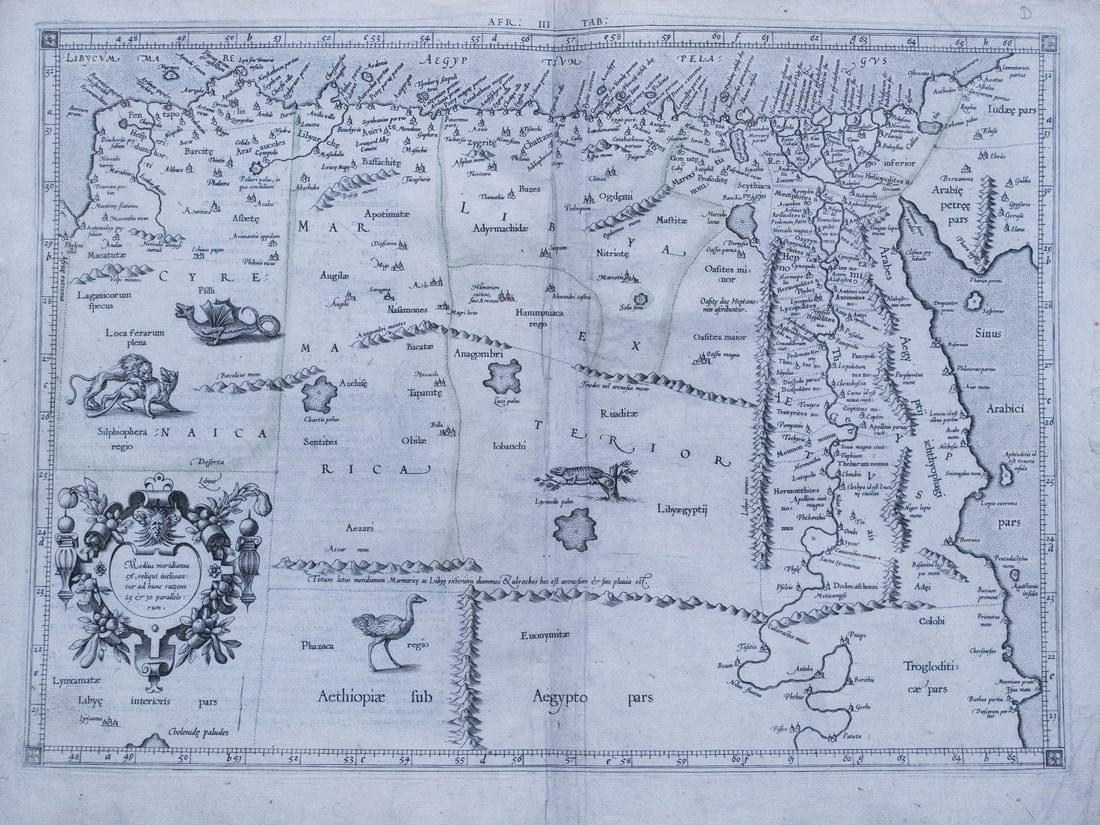 Mercator: Antique Map of Egypt and of N Africa, 1578