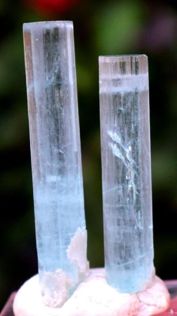 175 Carats Natural Aquamarine Crystals Pair - 4