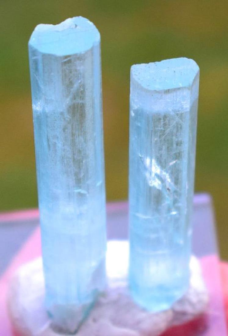 175 Carats Natural Aquamarine Crystals Pair - 6
