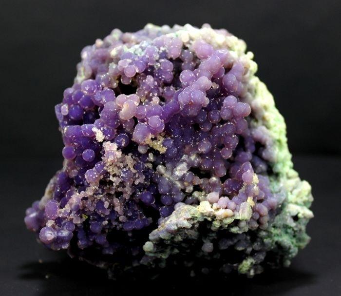 451 Gram Purple Chalcedony Grape Agate Crystals - 4