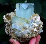 694 Gram Terminated Aquamarine Crystal & Muscovite Mica
