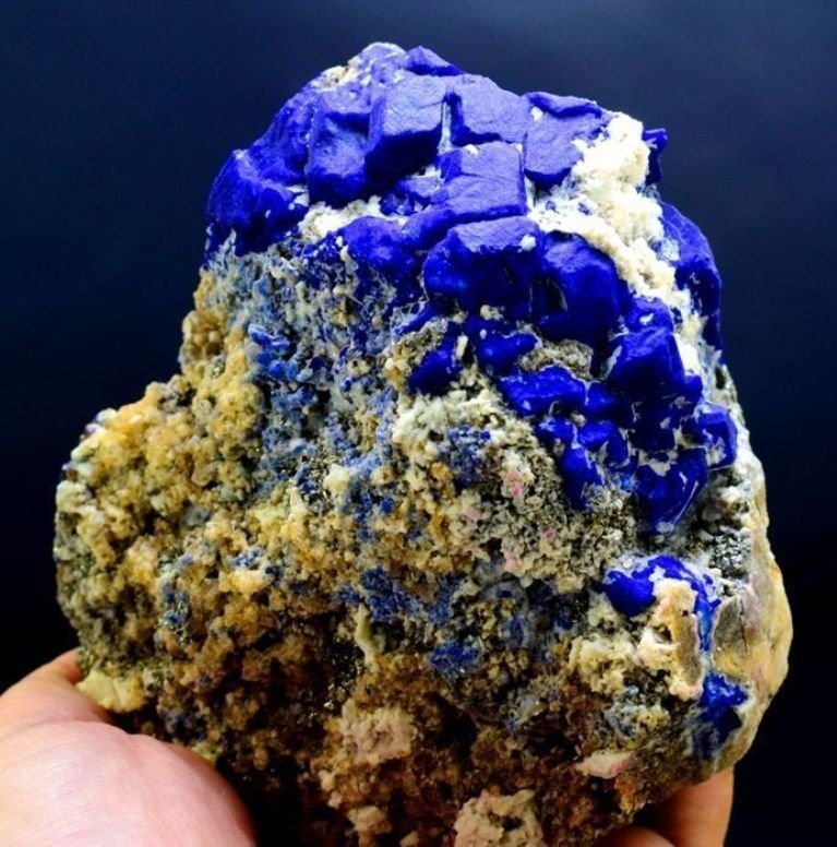 903 Gram Blue Lazurite Specimen with Golden Pyrite - 2